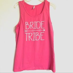 Tops - NWOT Bride Tribe Hot Pink Loose Tank Top size L